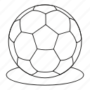 ball, game, line, outline, play, soccer, sport icon