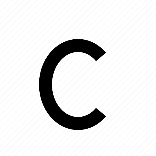 C  Letter  Lowercase  Text  Type  Typography Icon