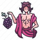 dionysus, ancient, wine, god, greek, grape, character