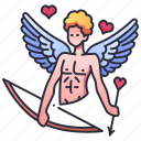 mythology, eros, love, cupid, god, bow, arrow
