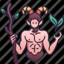 pan, mythology, god, goat, character, nature, horned