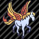 pegasus, horse, animal, myth, fantasy, wing, mythical