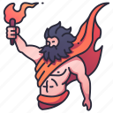 prometheus, greek, god, mythology, olympus, fire, torch