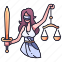 themis, justice, law, goddess, greek, balance, judge icon