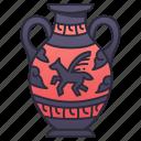 vase, ancient, greece, decorative, greek, pattern, jug