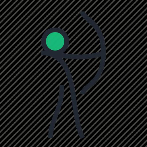 archer, archery, arrow, bow, sport icon