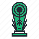 archer, archery, arrow, champion, green, sport, trophy icon