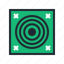 archer, archery, arrow, bow, green, sport, target icon
