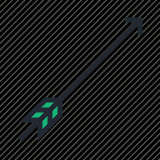 archer, archery, arrow, bow, green, sport icon