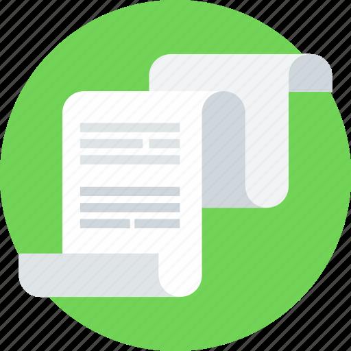 analysis, analytics, chart, data analytics, paper, presentation, text icon