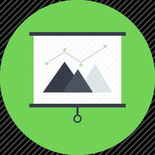 analytics, business, chart, presentation, profits, statistics, stats icon