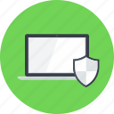 computer, laptop, online, protection, security, shield, weapons icon