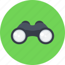 binoculars, detective, loupe, magnifying glass, search, see, spy icon
