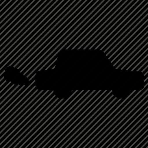 automobile, car, drive, pollution, smoke, vehicle, wheel icon
