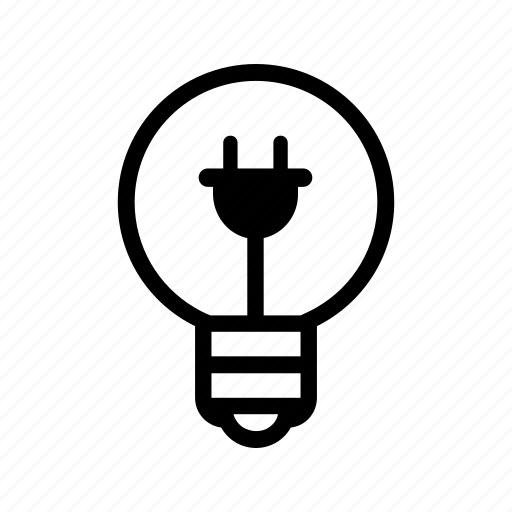 bulb, electric, electricity, energy, plug, power icon