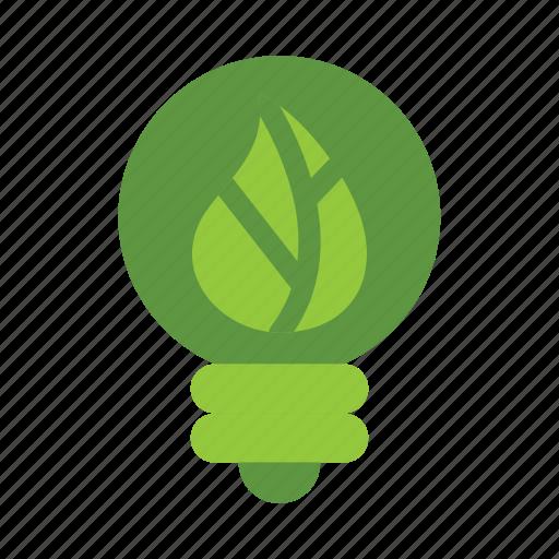 eco, ecology, energy, green, lamp, leaf, nature icon