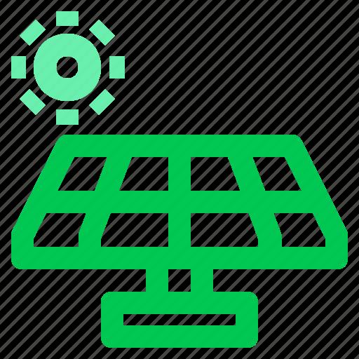 energy, green, panel, solar icon