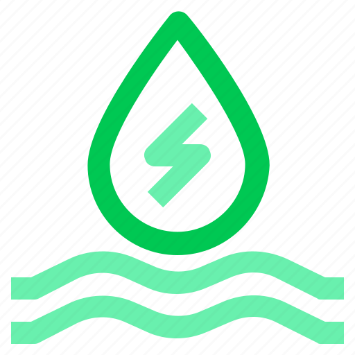 drop, energy, green, recycle, water icon