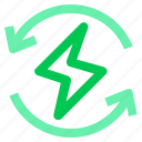 electric, energy, green, recycle icon
