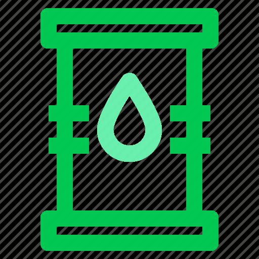 barrel, drum, energy, green, oil icon