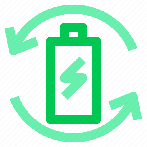 battery, energy, green, recycle icon