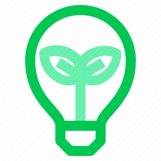 energy, green, lamp, leaf icon