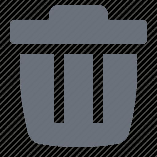 bin, energy, environment, environmental, green, green energy, pika, simple, trash, trash bin, trash can, waste bin, wastepaper basket icon