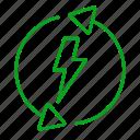 clean energy, eco, ecology, electricity, energy, green energy, renewable energy icon