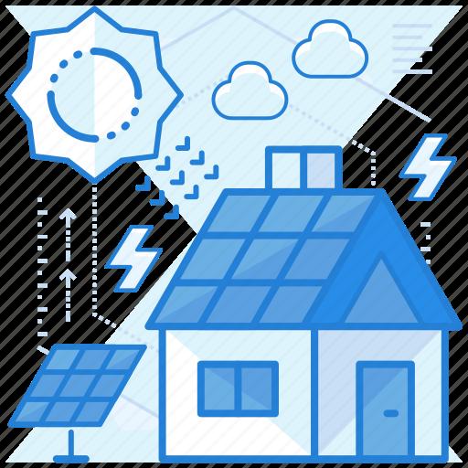 energy, power, solar, sustainable icon