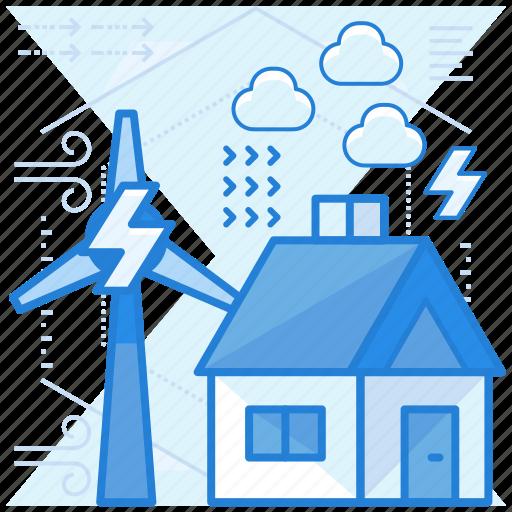 energy, sustainable, turbine, wind icon