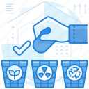 management, recycling, sorting, trash icon