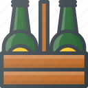 beer, bottle, pack, package, six, stack icon