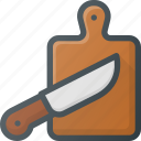 board, cook, cutting, grill, kitchen, knife, preparation icon
