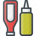 barbecue, bottle, grill, ketchup, mustard, sauce icon