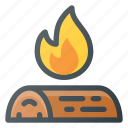 bbq, campfire, camping, fire, grill, outdoor, starting icon