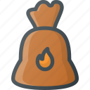 bag, barbeque, bbq, coal, grill, party icon