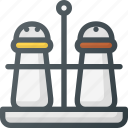condiment, cooking, grill, pepper, pot, salt, shaker icon