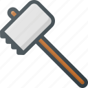 grill, hammer, mallet, meat, stake, tenderizer, tenderizing icon
