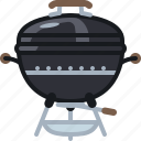 barbecue, cook, cooking, equipment, grill, lid, yumminky icon
