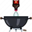 barbecue, bottle, cook, cooking, grill, starter, yumminky icon