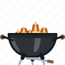 barbecue, cook, cooking, fire, flames, grill icon