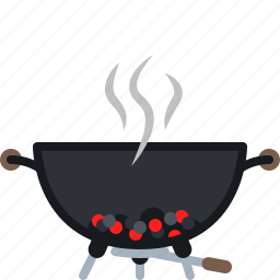 barbecue, coal, cooking, embers, grill, heat, yumminky icon