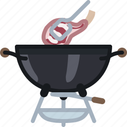 barbecue, cooking, food, grill, meat, ribs, yumminky icon