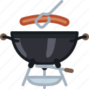 barbecue, cooking, food, grill, meat, sausage icon