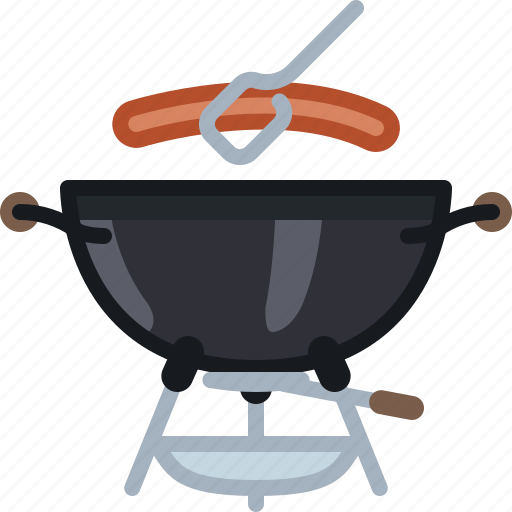 barbecue, cooking, food, grill, meat, sausage, yumminky icon