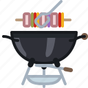 barbecue, cooking, food, grill, skewer icon