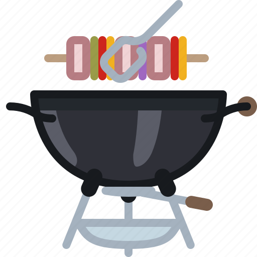 barbecue, cooking, food, grill, skewer, yumminky icon