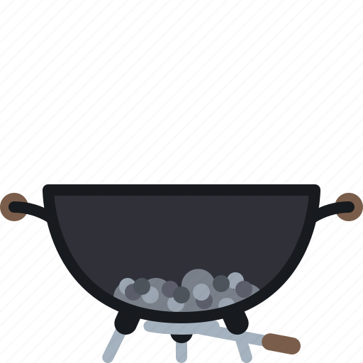 ash, barbecue, coal, cooking, grill, spillage, yumminky icon