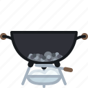 ash, barbecue, coal, cooking, grill, spillage icon