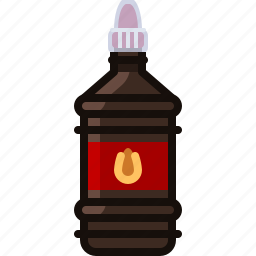 barbecue, bottle, burn, cooking, grill, starter, yumminky icon